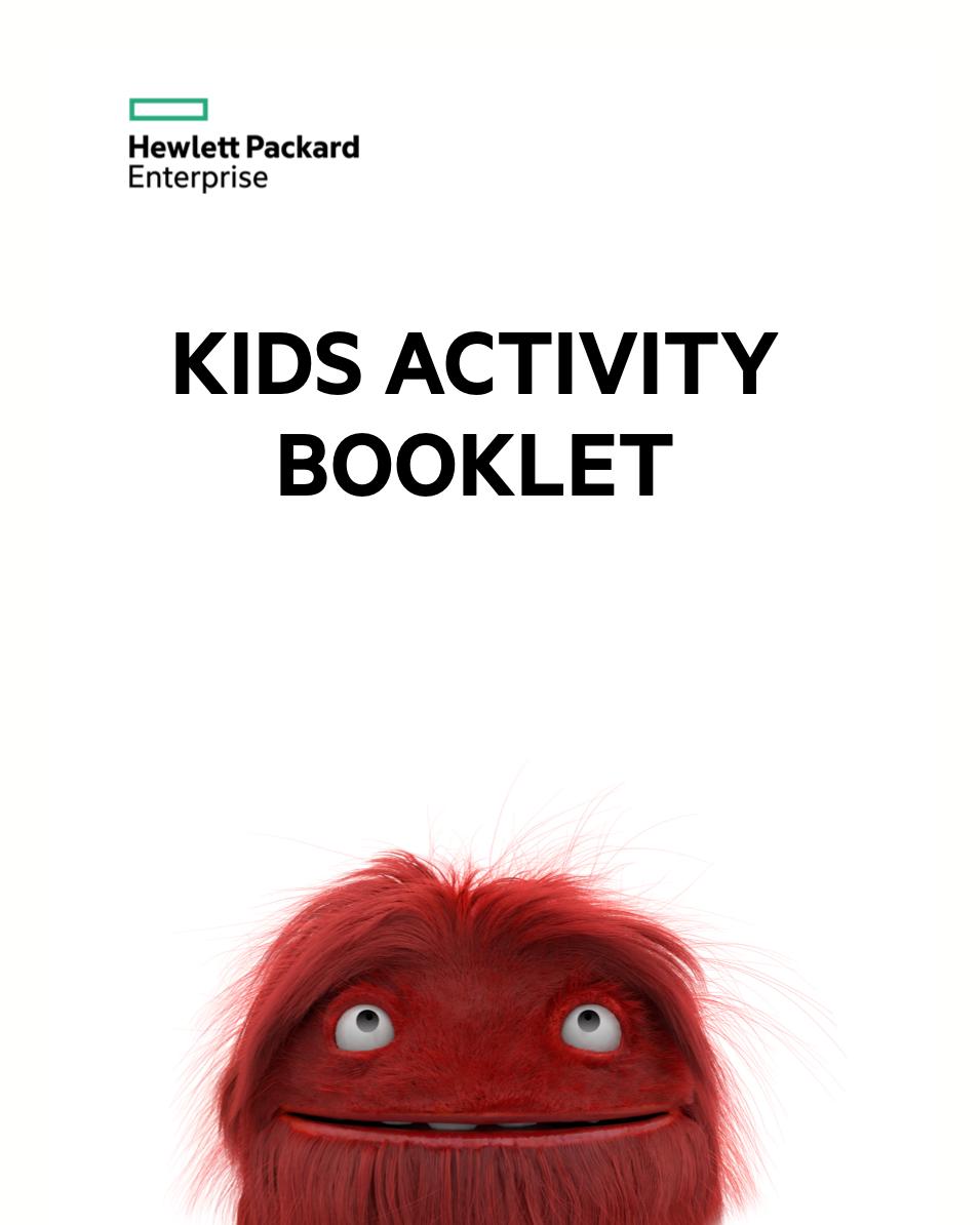 kid activity booklet